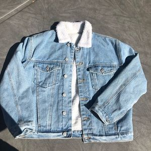 Brandy Melville Fur Jean Jacket
